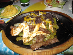 Ian's Mixed Tortillas at Senor Frogs.  Better than Wendy's Taco Salad, but not by much. We really can't recommend this restaurant.