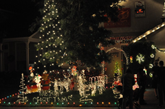 Sparkling Christmas lights make Wine Country fun for kids young and old!