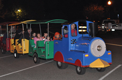 Train rides entertain the kids at the 2nd Annual Charlie Brown Christmas Tree Grove Lighting on Windsor Town Green.