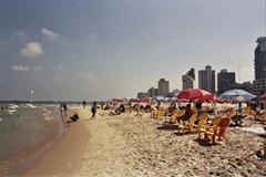 Yerushalayim Beach - a beautiful beach right in downtown Tel Aviv