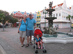 Exploring Oranjestad, Aruba with the UPPAbaby G-Lite umbrella stroller