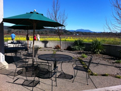 The large patio at Quivira's Dry Creek Valley tasting room has plenty of seating for a wine accompanied picnic.