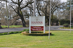 Hanna Winery and Vineyard's Russian River Valley tasting room is just on the outskirts of Santa Rosa.