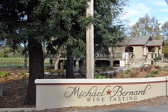 Michel-Bernard's new tasting room in Sonoma County's Dry Creek Valley