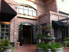 The lovely brick exterior to La Rosa - the new Mexican restaurant in downtown Santa Rosa.  Unfortunately, the food doesn't come close to measuring up.