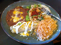 One of the two meals they actually got right at La Rosa - the new Mexican restaurant in downtown Santa Rosa