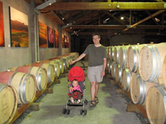 Looking for some more wine to fill those Wine Skins, at the Cloudy Bay Winery, New Zealand