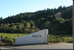 The entrance to Fritz Winery.