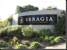The entrance to Sbragia Family Vineyards