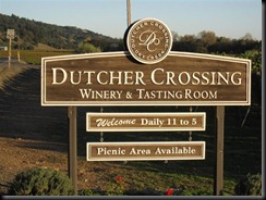 Entrance to Dutcher Crossing Winery and Tasting Room