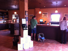Wine tasting at Balletto Winery – it's best to start 'em young! :)