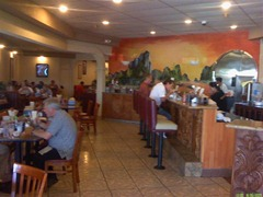Unassuming interior of Pho Vietnam, Santa Rosa, California