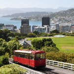 View out over Wellington from the top of the cable car